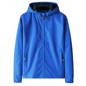 Mens Jacket with Hood Water Resistance Sport Coat for Men Winter and Autumn