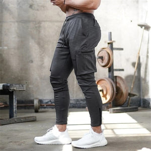 Gyms navy Sweatpants Joggers Skinny Pants