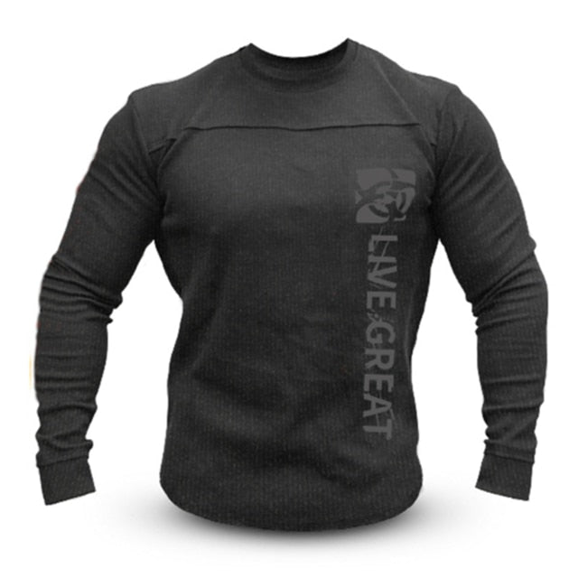 Men's T-Shirt Men Fashion Fitness T-shirts Fitness Casual For Male T-shirt Tops