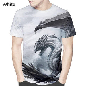 Flying Dragon thin men's short sleeve T-shirt is stylish and personalized street style