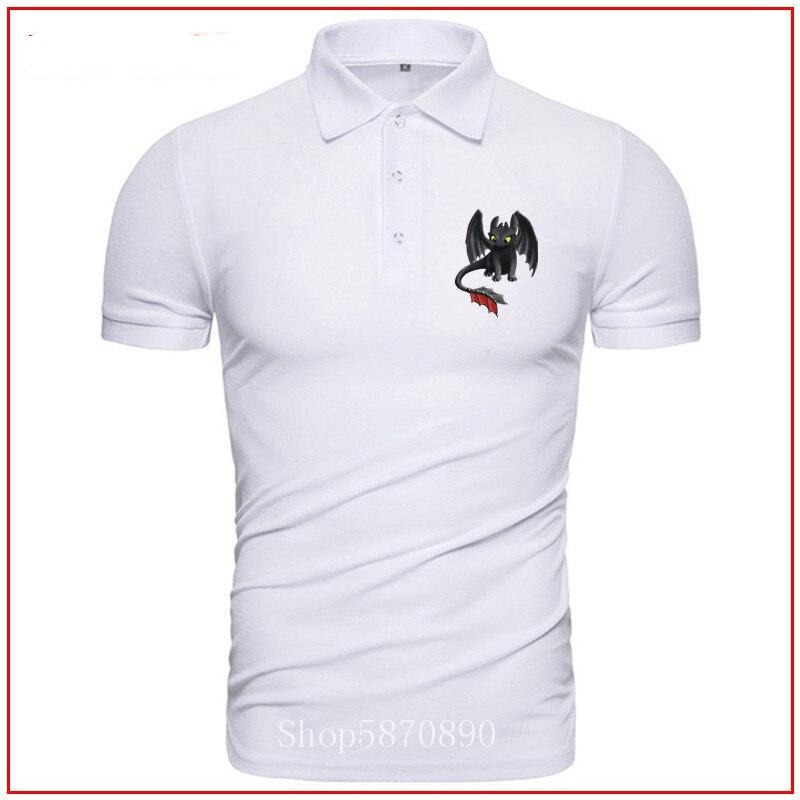 Toothless polo shirt man printed