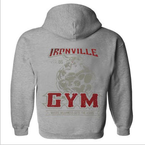 Fitness Wolf hoodie  clothing Hoodies Men Long Sleeve Hoodie Sweatshirts Mens Casual Brand Clothing Hoody Jacket 2019 New