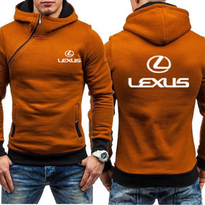 Men Hoodies Lexus Car Logo Print Casual HipHop Harajuku Long Sleeve Fleece Warm Hooded Sweatshirts Mens Zipper Clothing