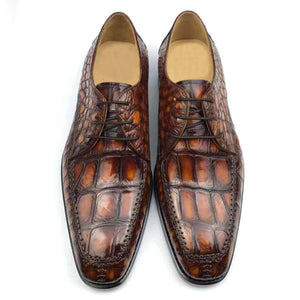 men dress shoes crocodile leather men shoes wedding  business crocodile shoes
