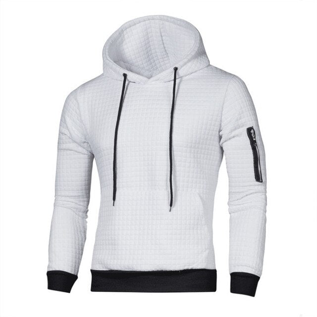 Sweater Men Solid Pullovers New Fashion Men Casual Hooded Sweater