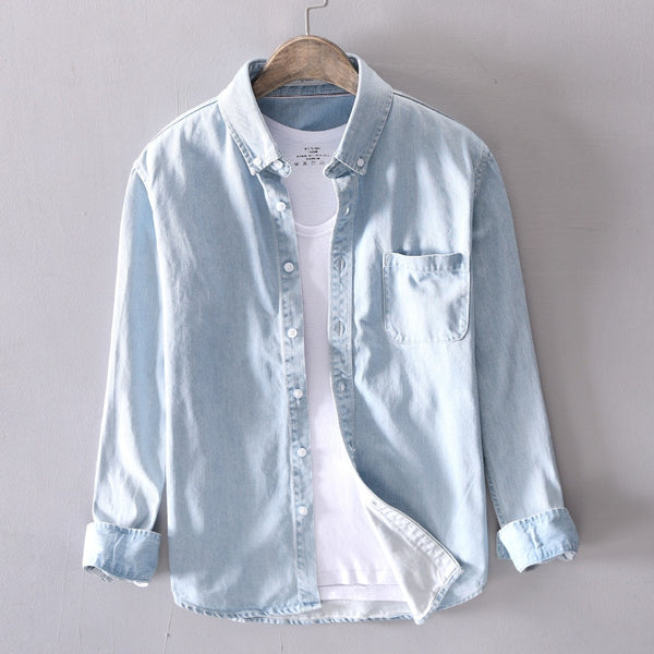 men casual Denim shirt 100%cotton