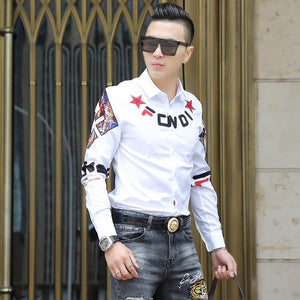 New Slim Fit Long Sleeve Casual Shirt