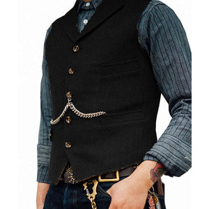 Classic Mens Herringbone Slim Fit Dress Suits Waistcoat Wedding Tuxedo Vests For Banquet Dinner Leisure Outerwear