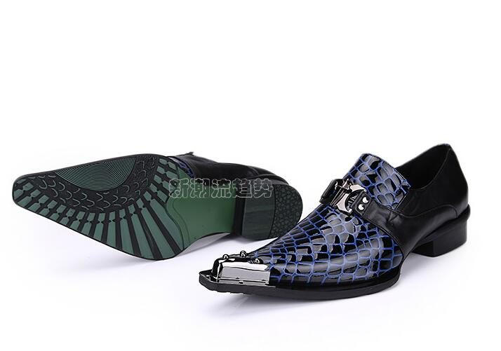 New Slip on Metal steel-toed Party shoes