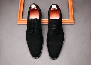 Mens Shoes Italian Bullock Carving Pointed Toe Men Dress