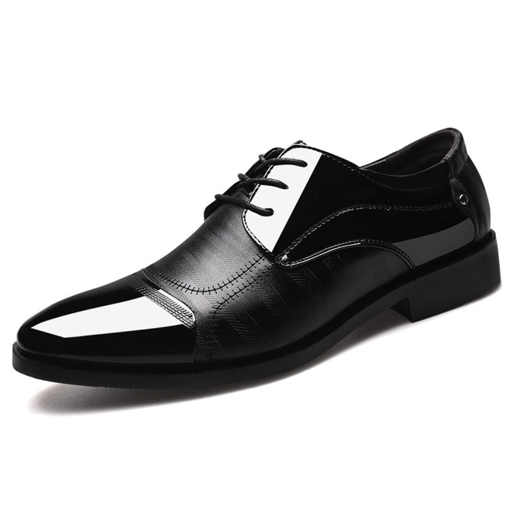 Pointed Ballroom Men Large Size Leather Shoes