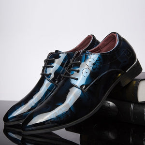 Patent Leather Oxford Shoes For Men Dress Formal Shoes