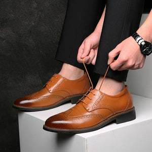 Leather Men Casual Shoes Brand  Italian Men Loafers Breathable Slip On Black Driving Shoes Plus Size
