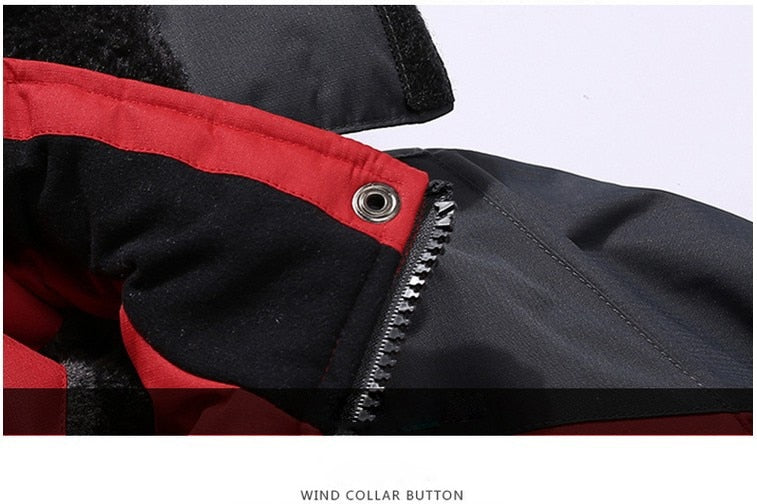 Winter Parka Men Windbreak Plus Velvet Thick Warm Windproof Fur Coats