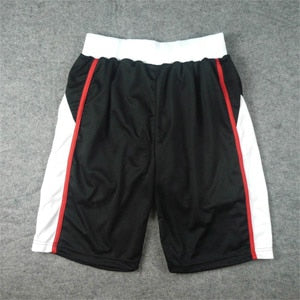 Breathable black basketball shorts