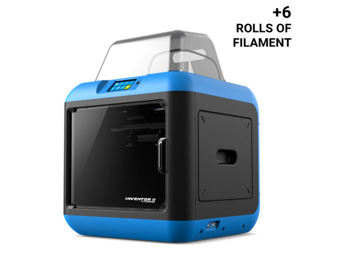 Flashforge Inventor IIS Bundle (1 Printer, 6 rolls 1Kg filament, & Ext. Warranty)