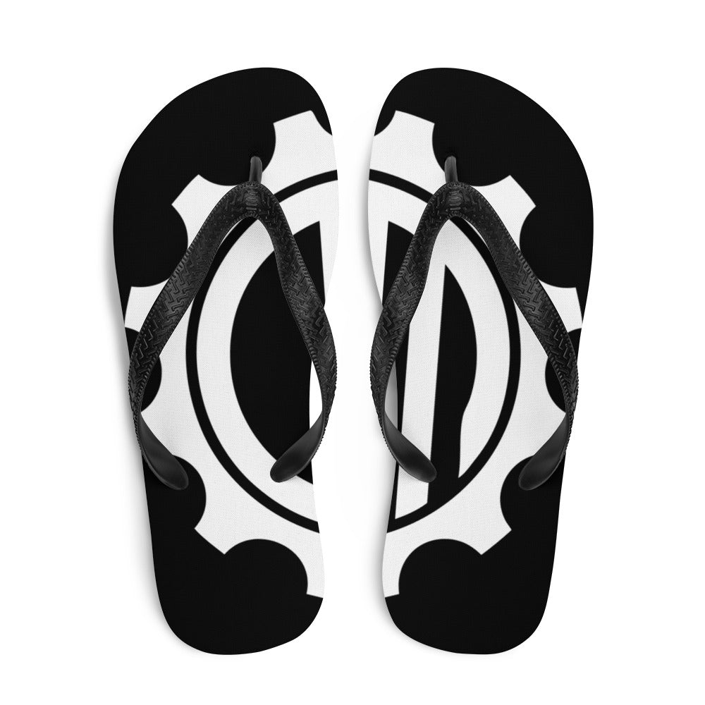 Mechanix Black Flip-Flops