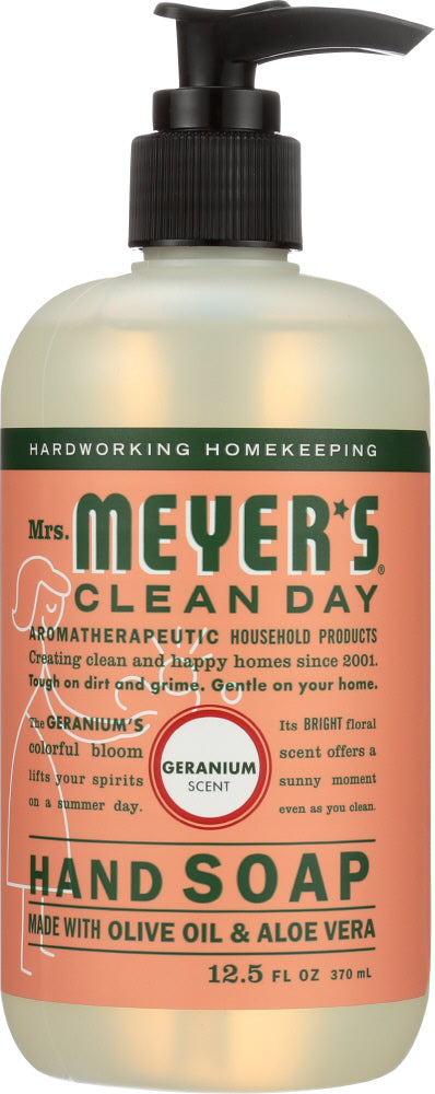 Mrs Meyers Clean Day: Liquid Hand Soap Geranium Scent, 12.5 Oz
