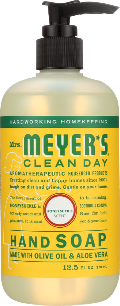 Mrs. Meyer's: Clean Day Liquid Hand Soap Honeysuckle Scent, 12.5 Oz