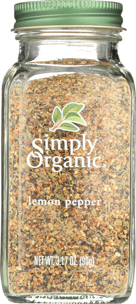 Simply Organic: Lemon Pepper Seasoning, 3.17 Oz