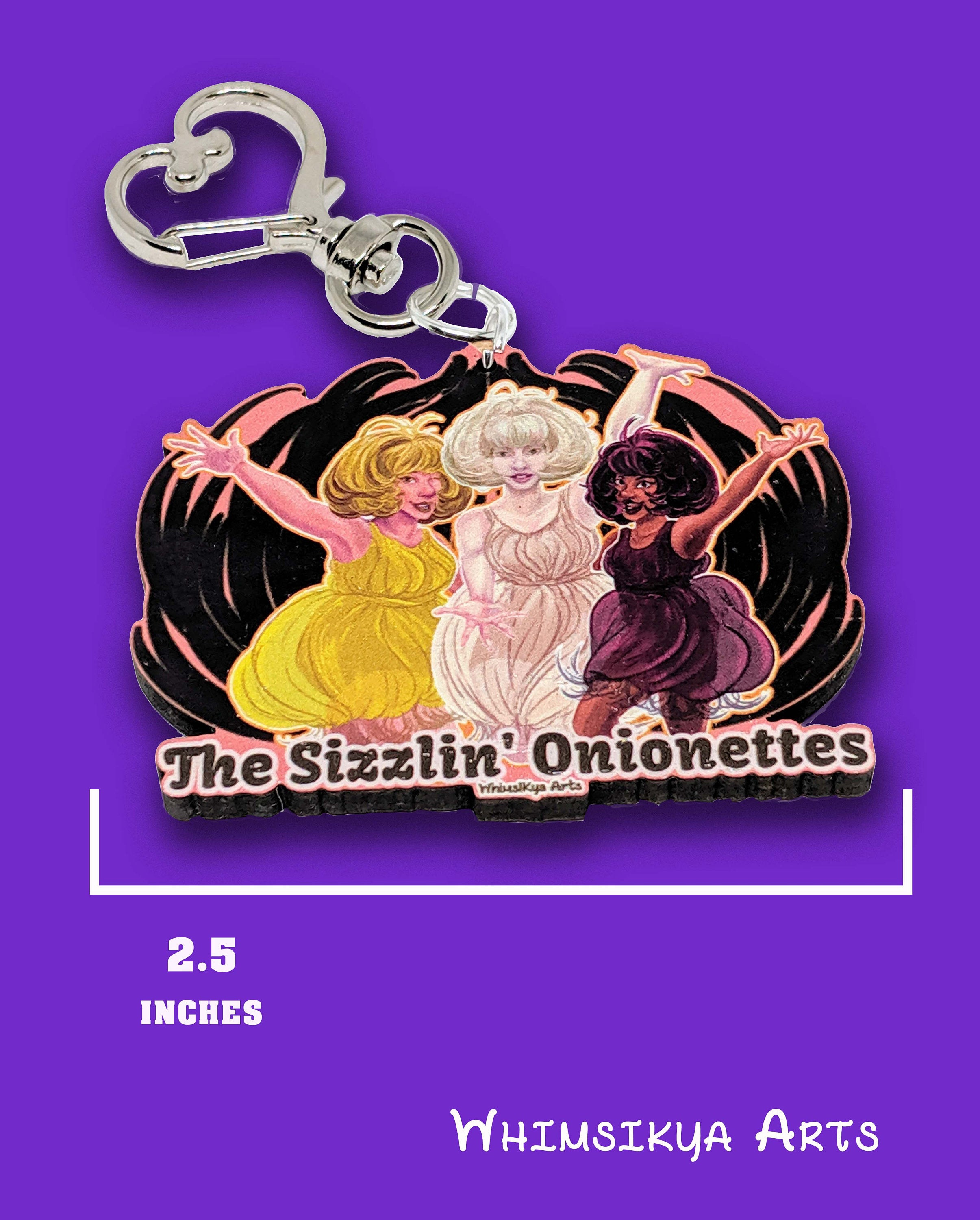 The Sizzlin Onionettes Keychain