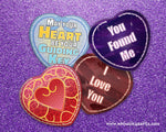 Load image into Gallery viewer, Heart Pinback Buttons