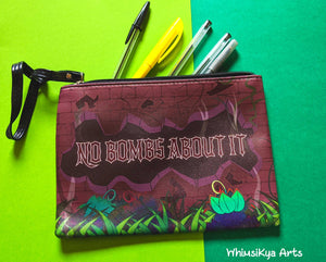 No Bombs About It Faux Leather Pouch