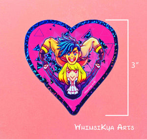Promare Glitter Heart Sticker