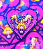 Load image into Gallery viewer, Promare Glitter Heart Sticker
