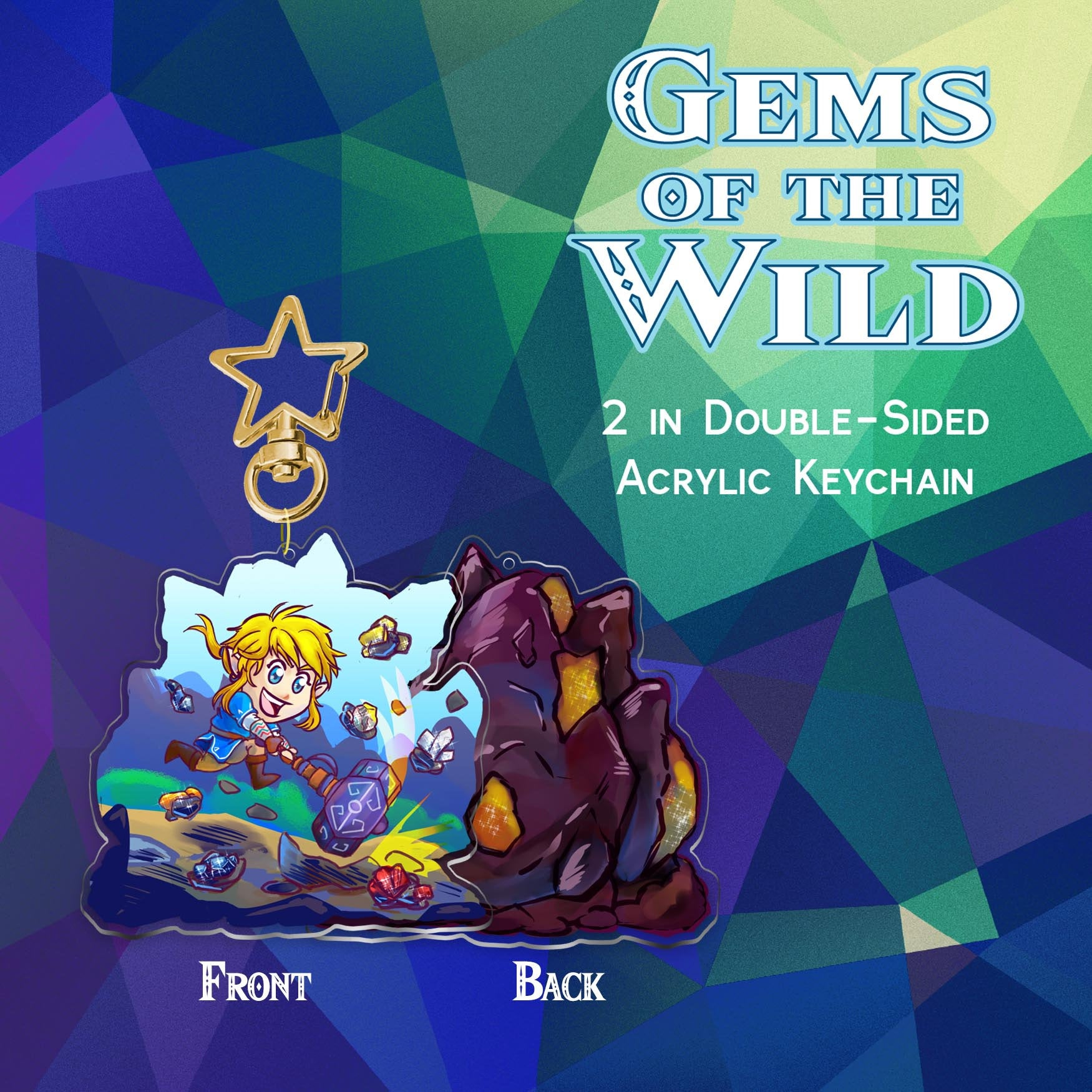 Gems of the Wild Keychain