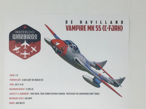 Waterloo Warbirds Sticker Set