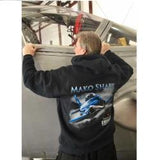 Mako Shark Full-Zip Hooded Sweatshirt - Black Only