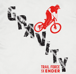 T-Shirt  14Ender® Gravity Design, white NEU!!