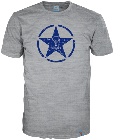 14Ender T-Shirt Star grey-melange