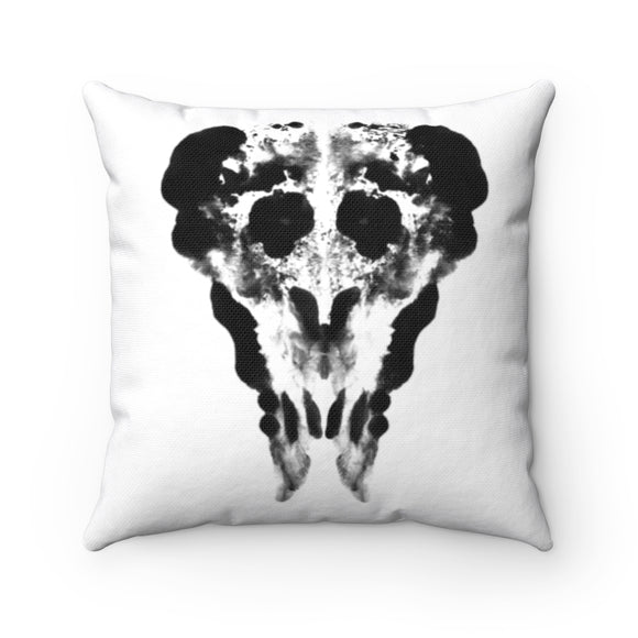Inkblot creepy clown square pillows