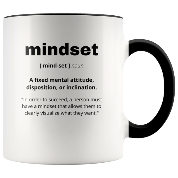 Definition of Mindset ceramic accent mugs