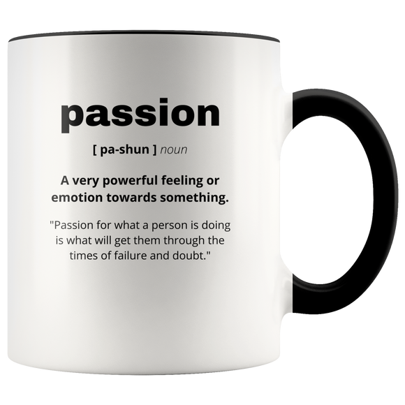 Definition of Passion ceramic accent mugs