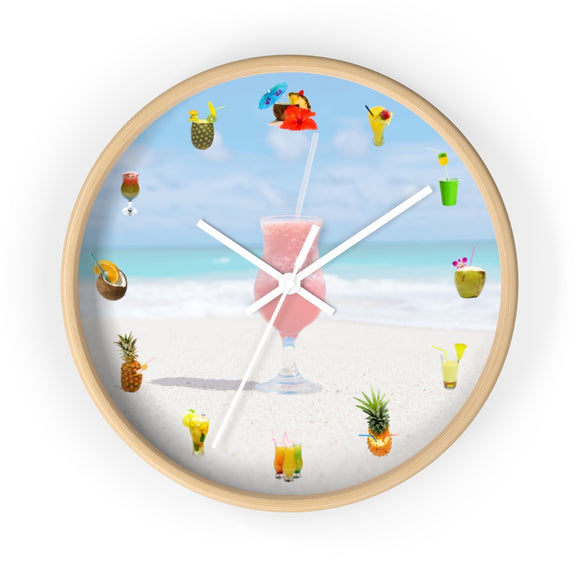 Beach drink wall clocks