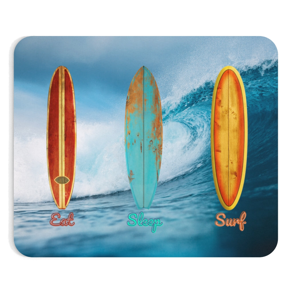 Eat sleep surf mousepads