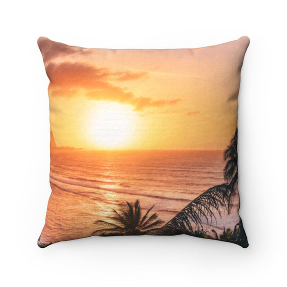 Sunset square pillows
