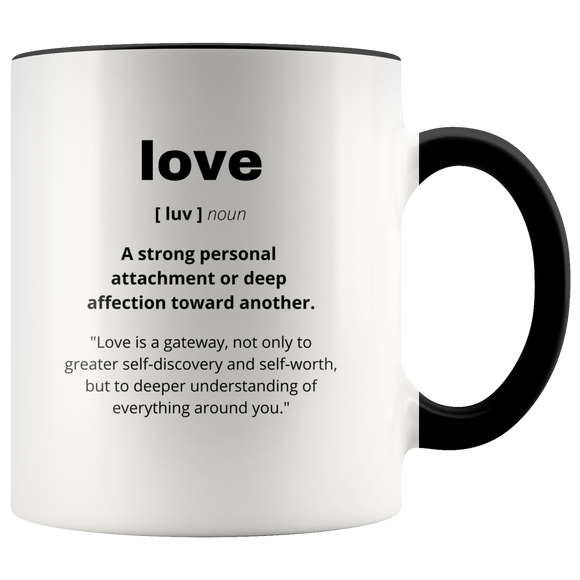 Definition of Love ceramic accent mugs
