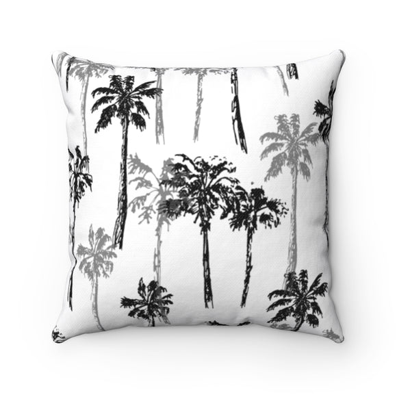 Palm print square pillows