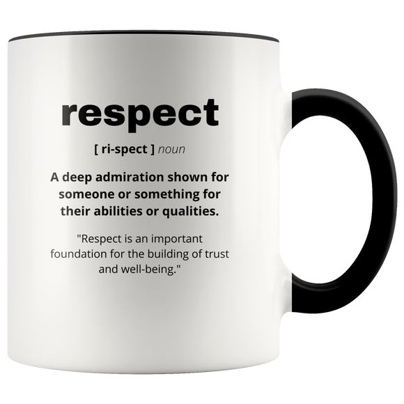 Definition of Respect ceramic accent mugs