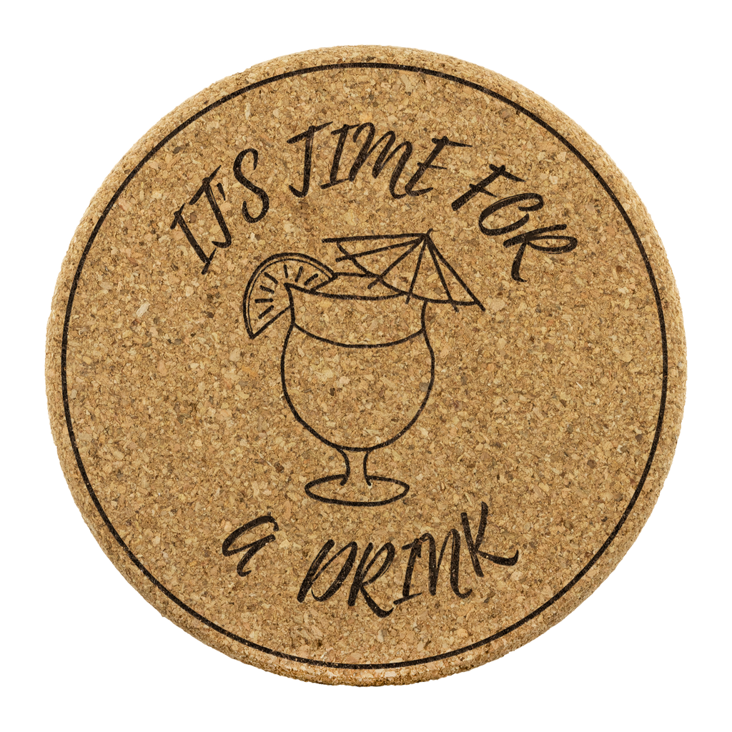 Time for a drink cork coasters