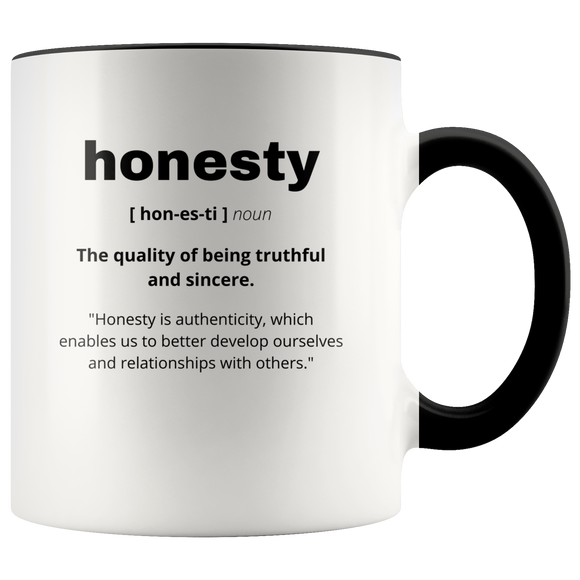 Definition of Honesty ceramic accent mugs