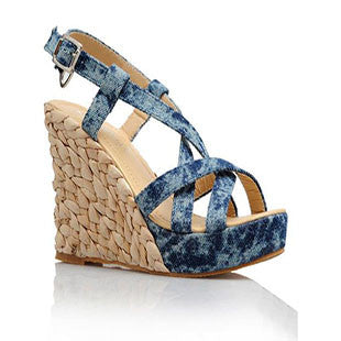 Sexy Hoof Soft Dough Cross-Strap Lace-Up Sandal - 3 Colors