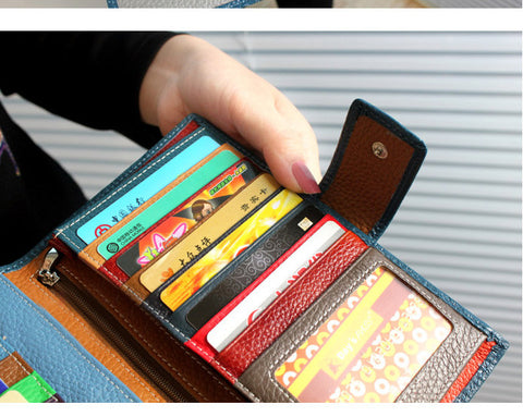 Solid Genuine Leather Hasp Closure Crocodile Pattern Phone Wallet Clutches