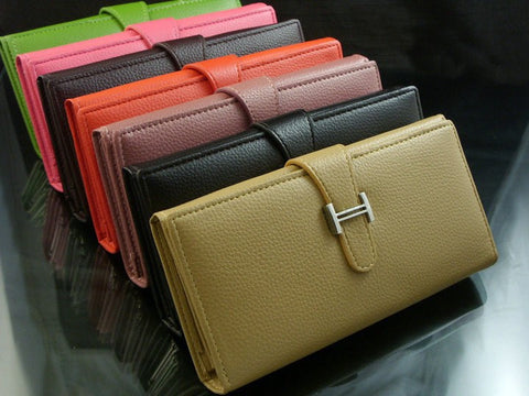 Solid Casual PU Hasp Closure Purses