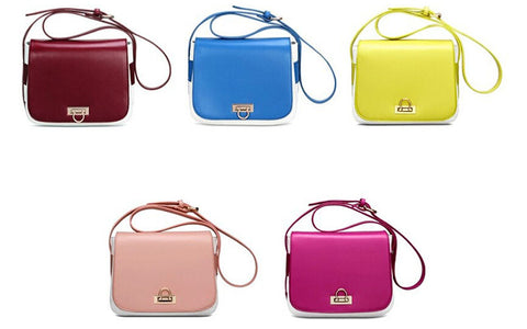 Solid Mini Soft Zipper PU Leather Shoulder Bags with Interior Slot Pocket