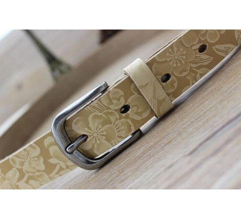 Solid Free Size Pin Buckle Belt